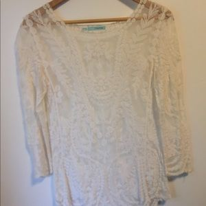 Maurices lace 3/4 sleeve top
